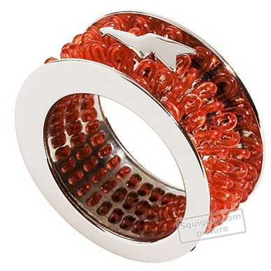 Swatch Bijoux Curled-Red-Ring JR000010-5 - 2000 Spring Summer Collection
