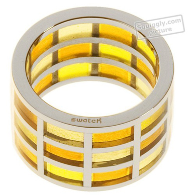 Swatch Bijoux Pinamber-Yellow-Ring JRJ008-5 - 2002 Fall Winter Collection
