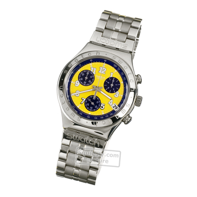 Swatch Secret-Agent-Yellow-Flip-Usa YCS406D - 1998 Spring Summer Collection