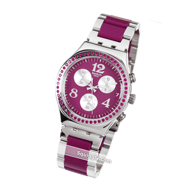 Swatch Secret-Thought-Raspberry YCS555G - 2012 Spring Summer Collection