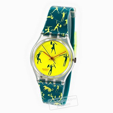 Swatch watch yellow