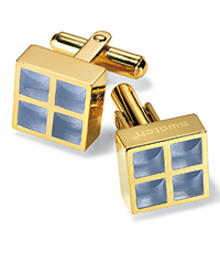 JMJ001-U Prismatic Gold Cufflinks