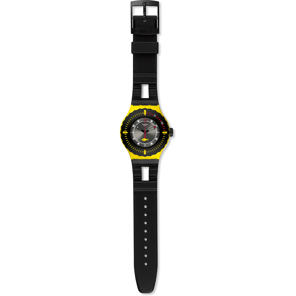 Swatch suuj100 watch bumble dive - Swatch dive watch ...