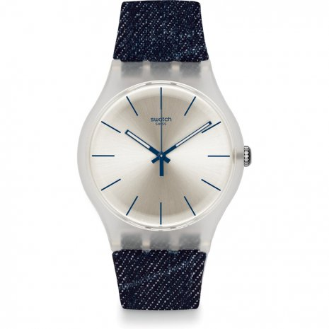 Swatch White Washed Out watch