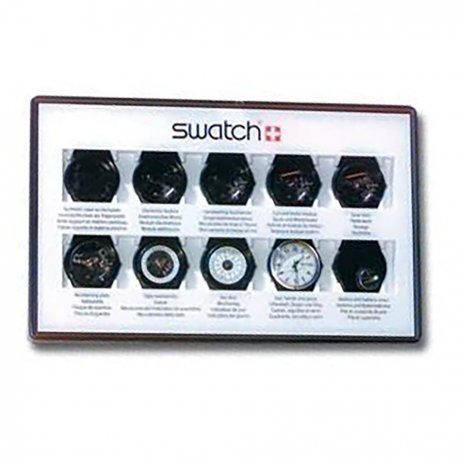 Swatch 10 Step Production Showcase(Black) watch