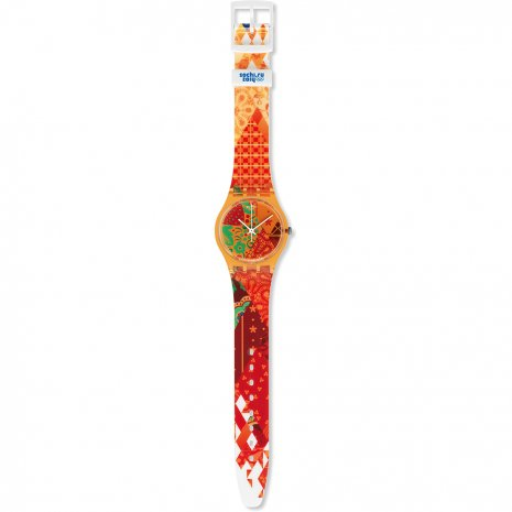 Swatch watch orange