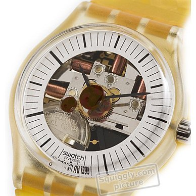 Watch with alarm function (melody composed by Peter Gabriel) Spring Summer Collection Swatch