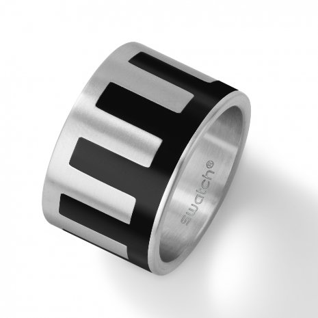 Swatch Bijoux Black Intrusion Ring Ring