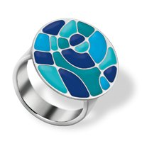 JRS047-5 Shades Of Blue Ring