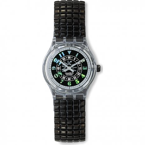 Swatch Black Awake watch