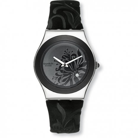 Swatch Black Flower watch