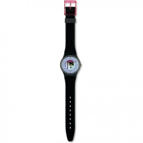 Swatch Black Inlay watch