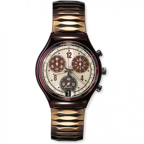 Swatch Brownbrushed watch