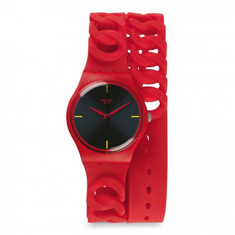 Swatch Cranberry Link watch