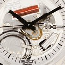 Skeleton Swatch Watch with White Dial Fall Winter Collection Swatch