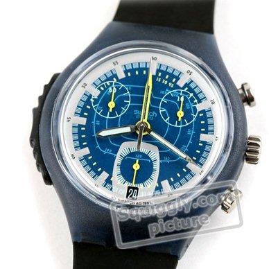 watch blue Quartz Chronograph
