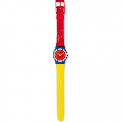 Swatch Eggs & Tomato watch