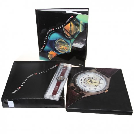 Swatch Electa Set With Book ( Rubin, Bluematic Or Black Motion) watch