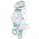 watch light blue Quartz