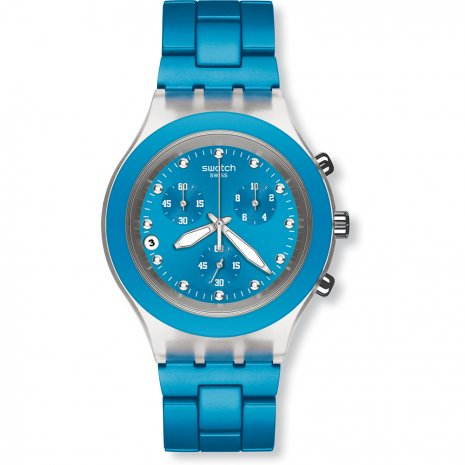 Swatch Full-Blooded Cyan watch