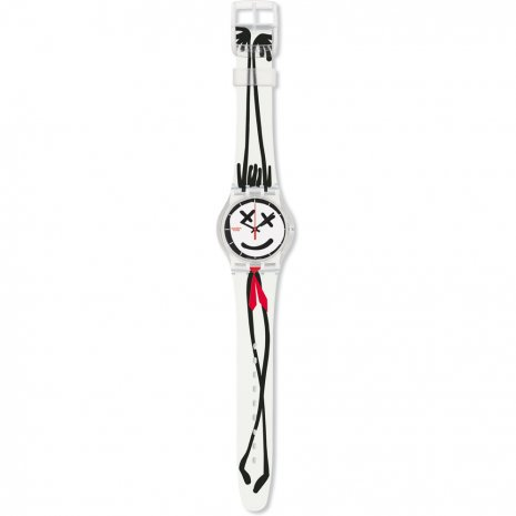 Swatch Funky Red Tie watch