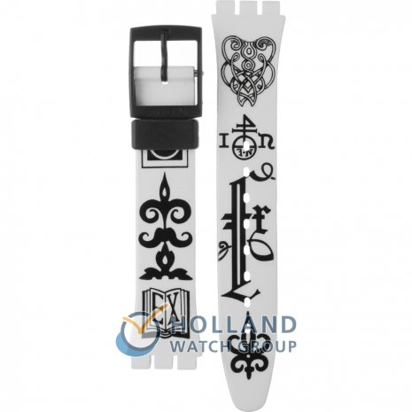 Swatch GB163 Black Letter Strap