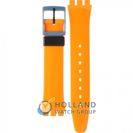 Swatch GB268 Orange 'N Petrol Strap