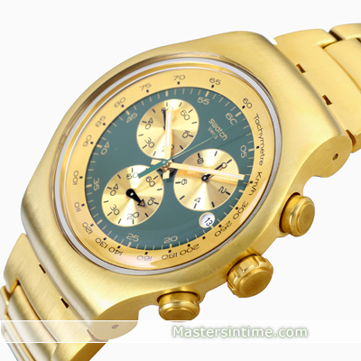 watch Gold Quartz Chronograph