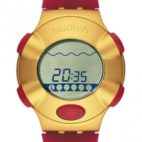 Swatch Golden Virtual Wave watch