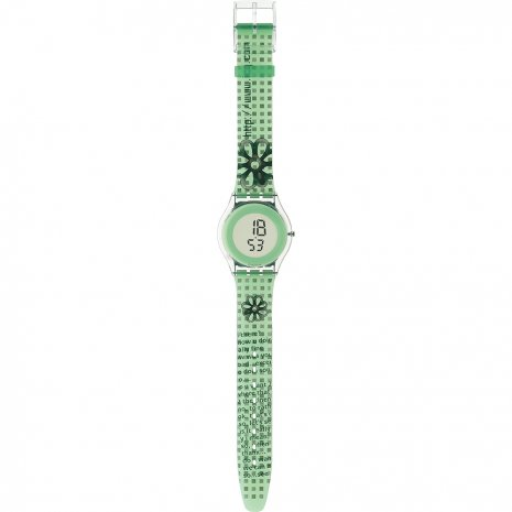 Swatch Green Petal watch