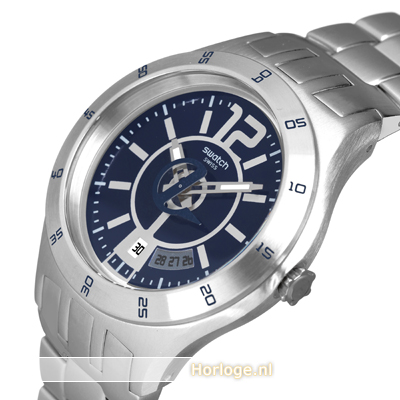 Silver-blue watch with date Fall Winter Collection Swatch