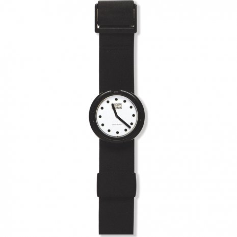 Swatch Jet Black watch