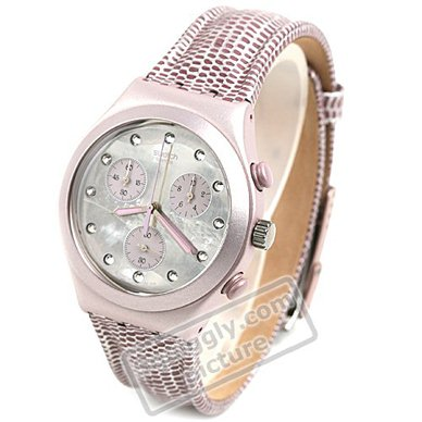 watch Pink Quartz Chronograph