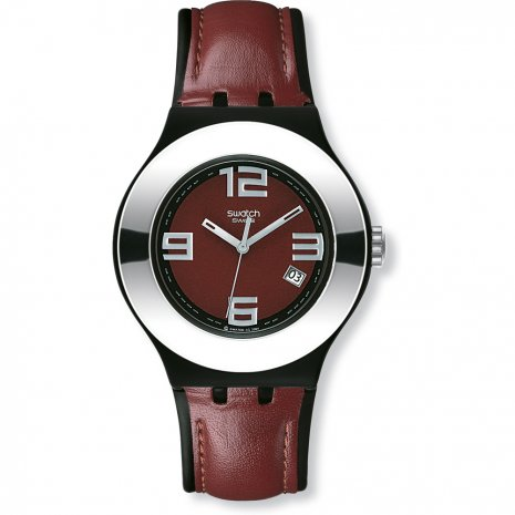 Swatch Leather On watch