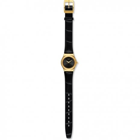 Black & Gold Irony Ladies Watch Fall Winter Collection Swatch