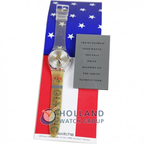 Swatch Olympic Team Usa Display with Athletes Watch watch