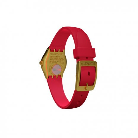 Gold & Red Irony Ladies Watch Fall Winter Collection Swatch