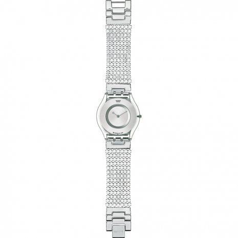 Swatch Paved In Silver Large watch