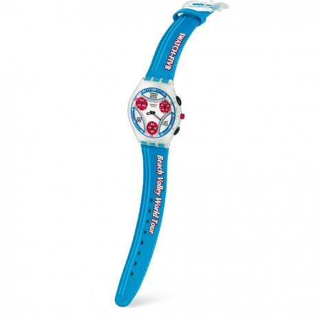 Blue Ultra Flat Chronograph Spring Summer Collection Swatch