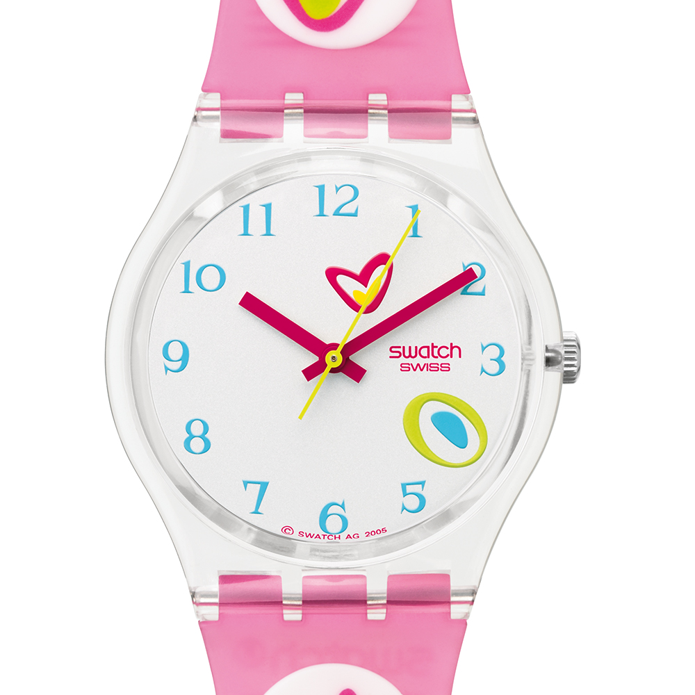 Swatch Ge177 Watch Pink Candy