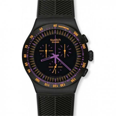 Swatch Purple In Dark watch