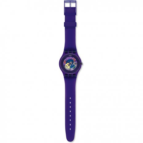 Swatch Purple Lacquered watch