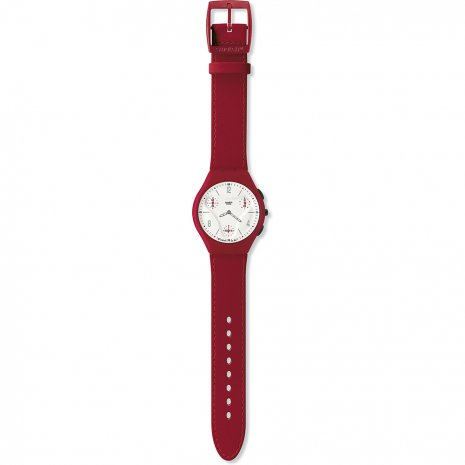 Swatch Red Illusion watch