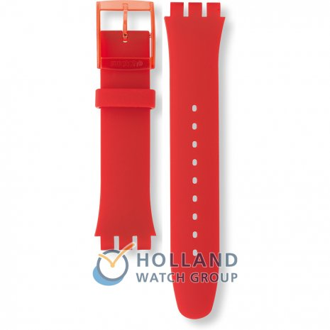 Swatch SUOR101 Red Lacquered Strap