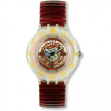 Swatch Red Marine watch