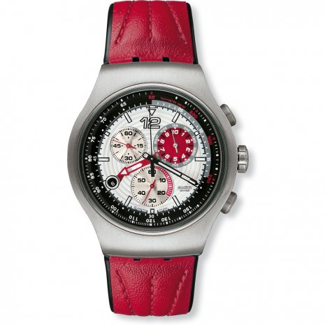 Swatch Red Storming watch