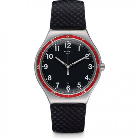 Swatch Red Wheel watch