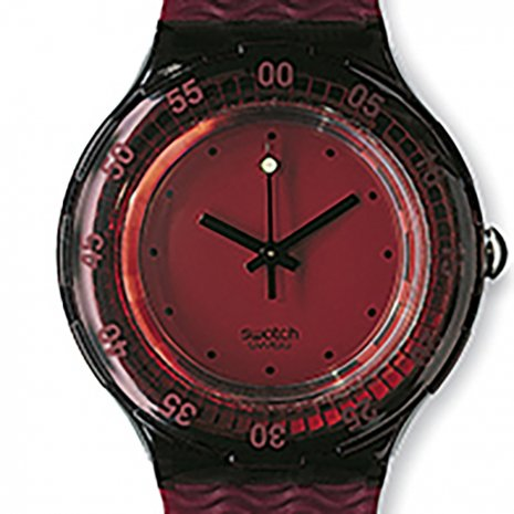 Swatch Red Wood Ring Accessory