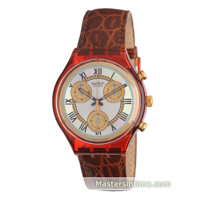watch Brown Quartz Chronograph