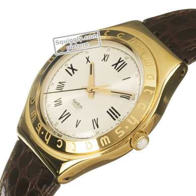 Swiss Made Gold Steel Gents Watch Spring Summer Collection Swatch